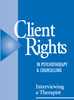 Client Rights in Psychotherapy and Counselling: Interviewing a Therapist wallet card