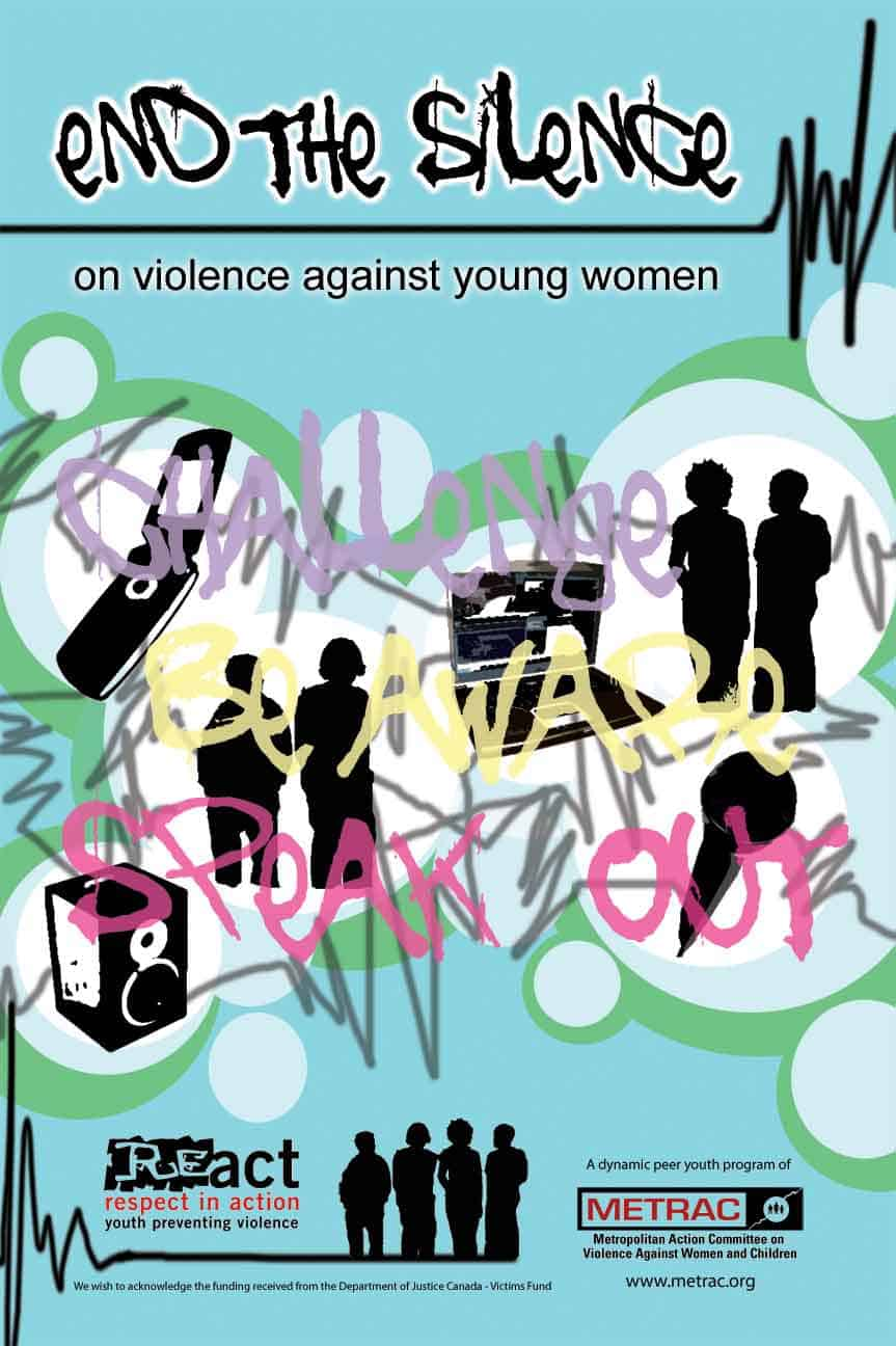 End The Silence On Violence Against Young Women Poster