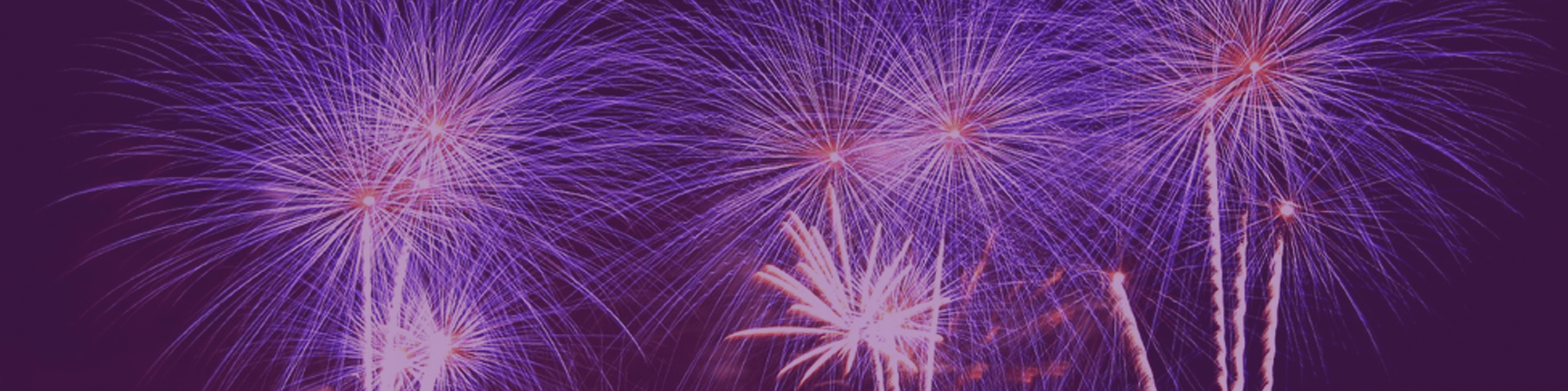 Fireworks on a purple background